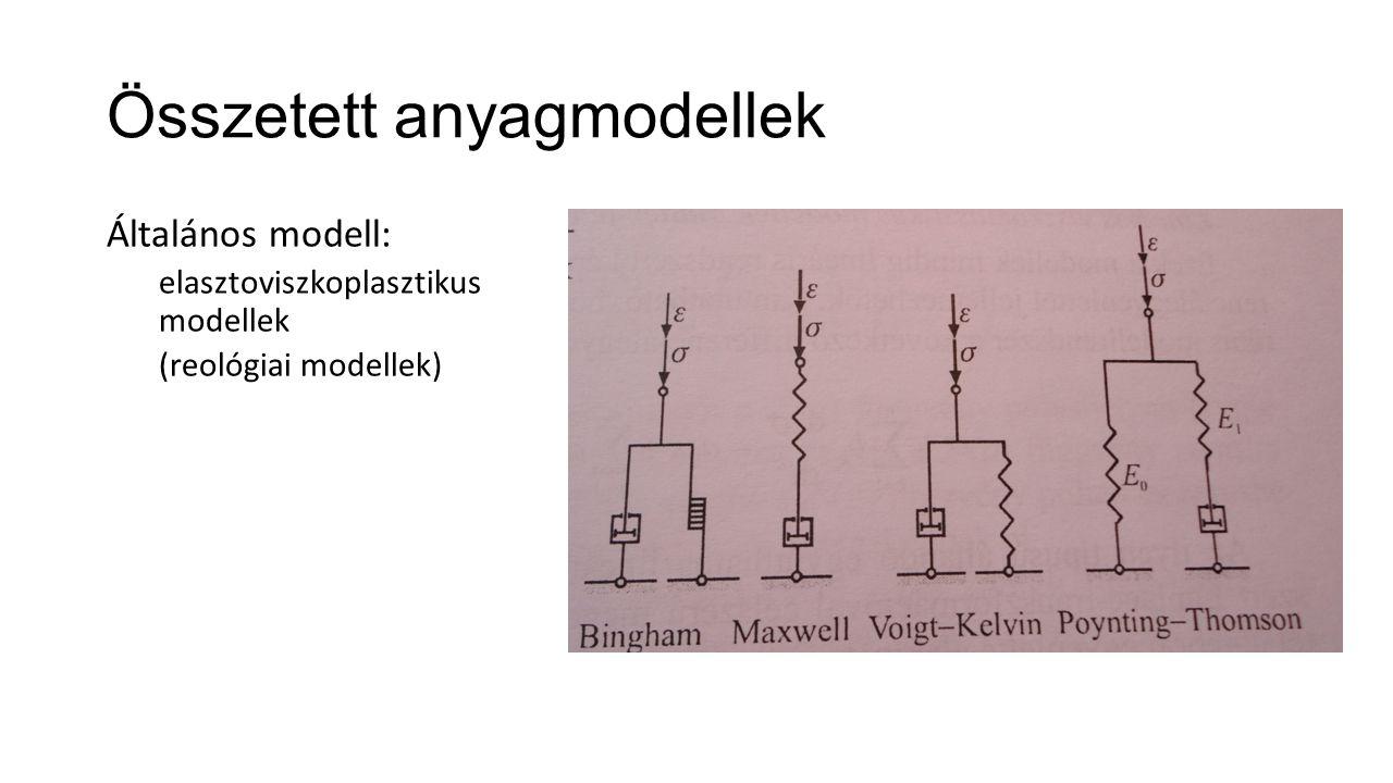 Összetett anyagmodellek Általános modell: elasztoviszkoplasztikus modellek (reológiai modellek)