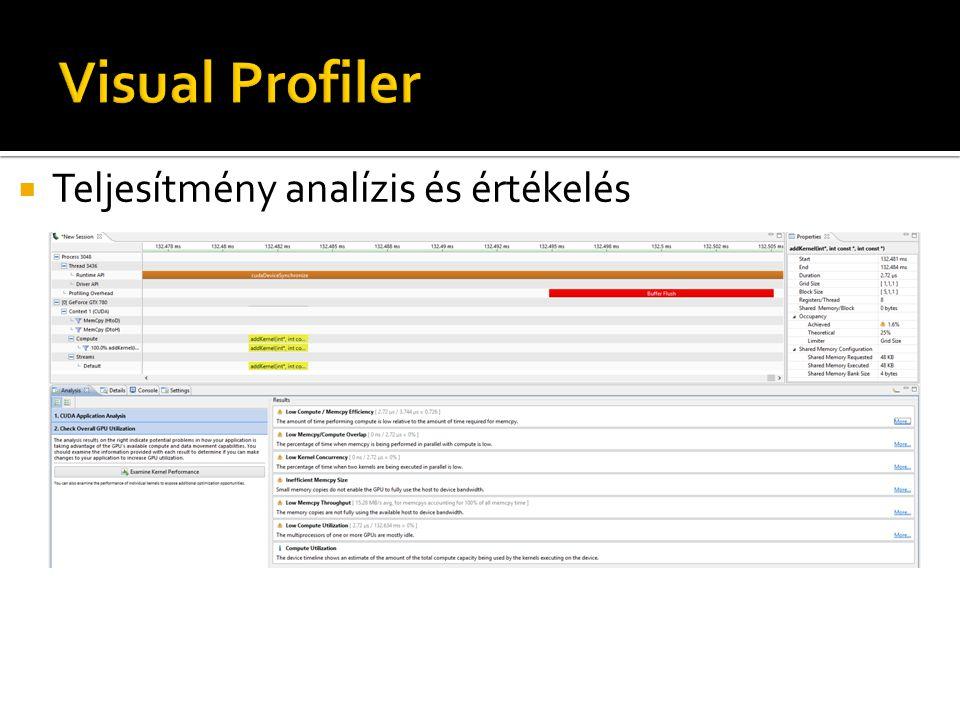  Teljesítmény analízis és értékelés