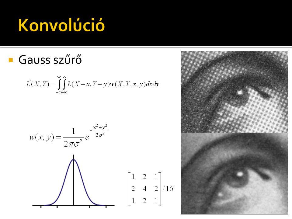  Gauss szűrő