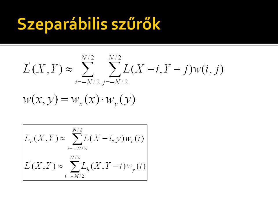 uniform sampler2D colorMap; const float kernel[3] = float[3]( 1.0, 2.0, 1.0 ); out vec4 outColor; void main(){ outColor = vec4(0.0); for(int x=-1; x<1; ++x) outColor += texelFetch(colorMap, ivec2(gl_FragCoord) + ivec2(x,0)) * kernel[x+1] / 4.0; } uniform sampler2D colorMap; const float kernel[3] = float[3]( 1.0, 2.0, 1.0 ); out vec4 outColor; void main(){ outColor = vec4(0.0); for(int y=-1; y<1; ++y) outColor += texelFetch(colorMap, ivec2(gl_FragCoord) + ivec2(0,y)) * kernel[y+1] / 4.0; }