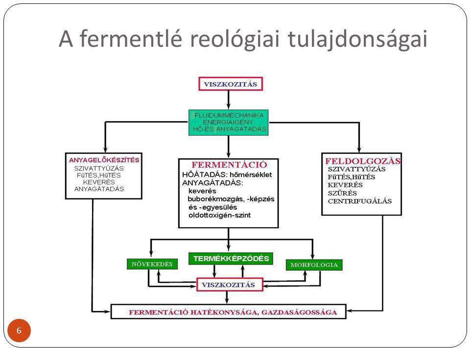 A fermentlé reológiai tulajdonságai 6