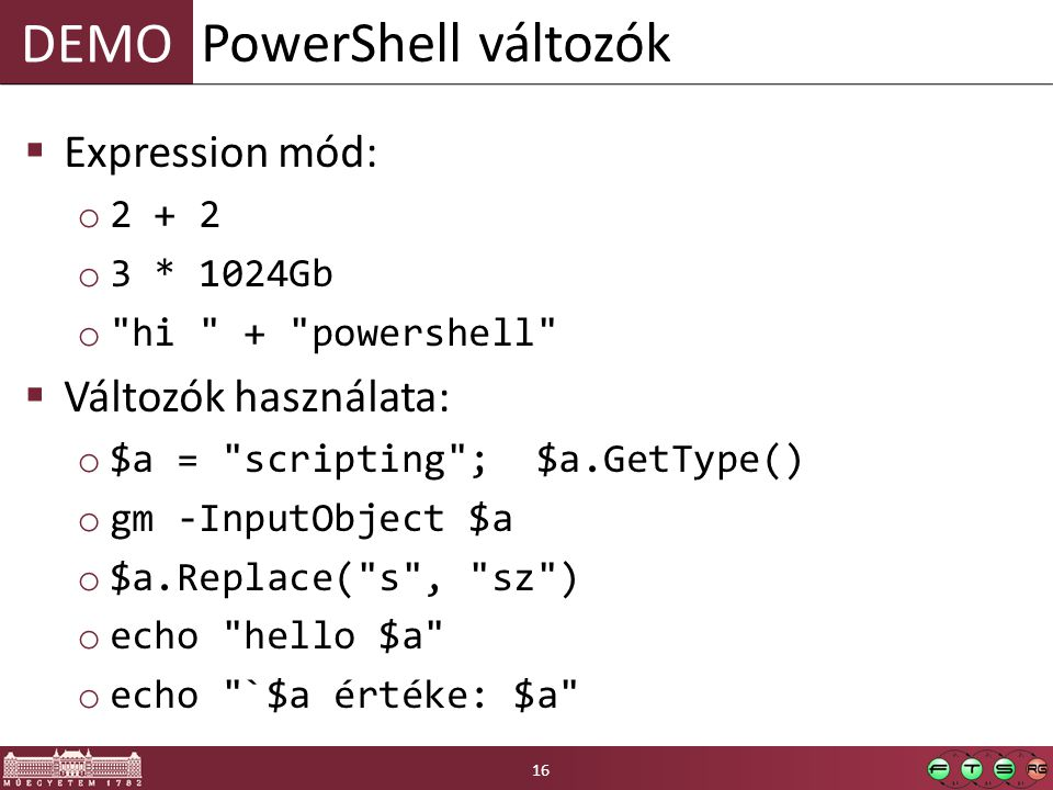 DEMO  Expression mód: o 2 + 2 o 3 * 1024Gb o