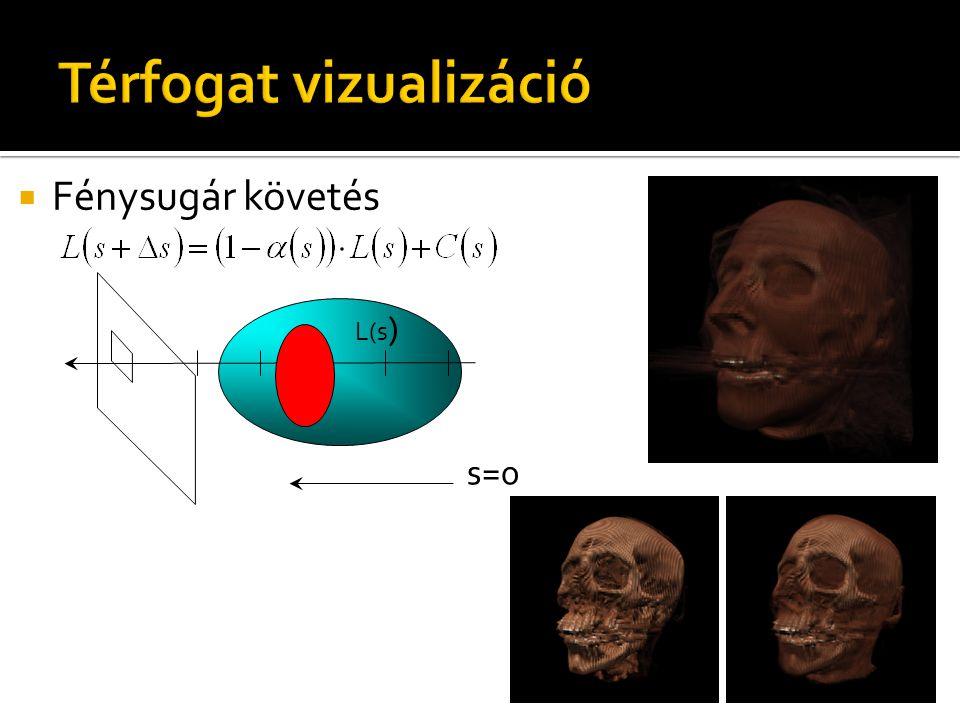  Fénysugár követés L(s ) s=0