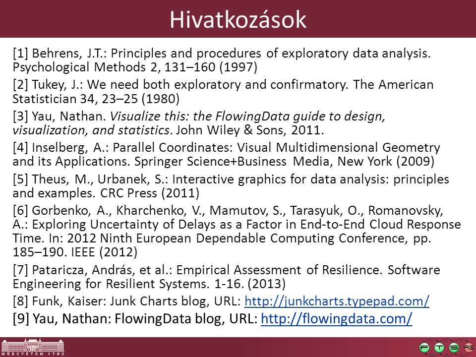 Hivatkozások [1] Behrens, J.T.: Principles and procedures of exploratory data analysis.