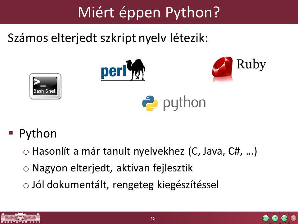 Miért éppen Python.