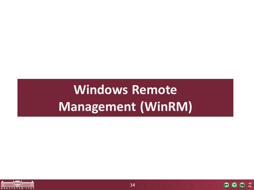 34 Windows Remote Management (WinRM)