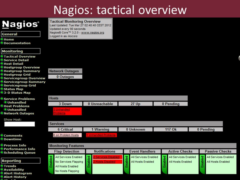 46 Nagios: tactical overview