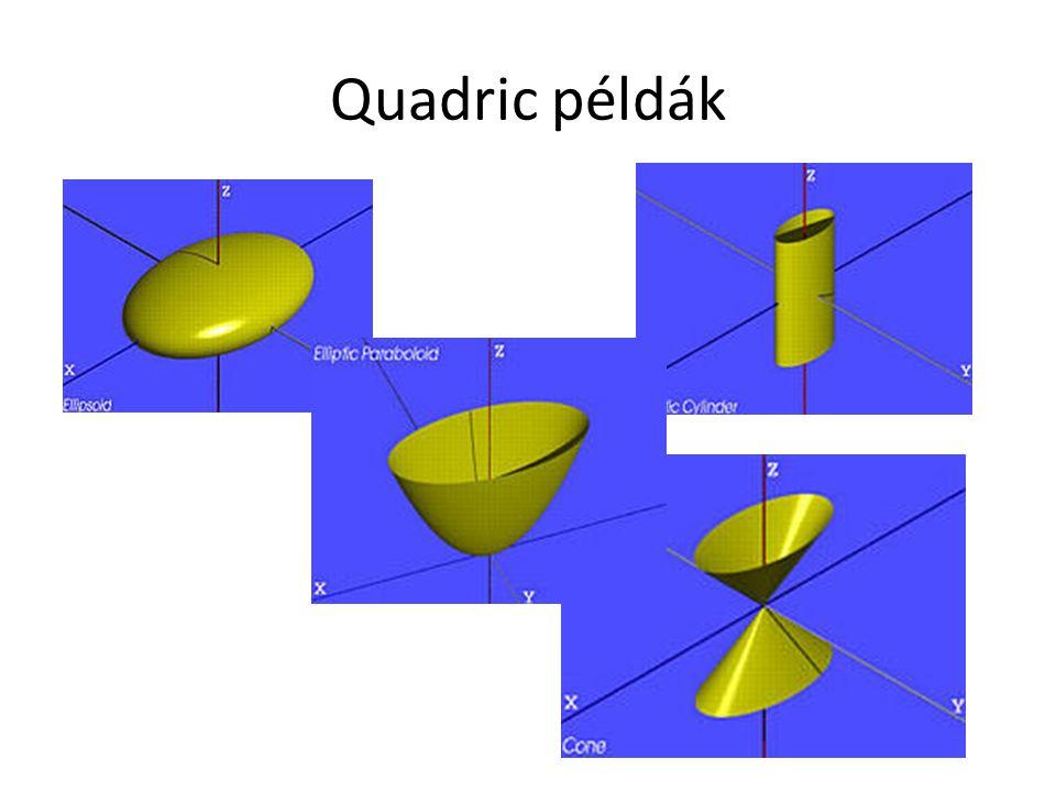 Quadric példák