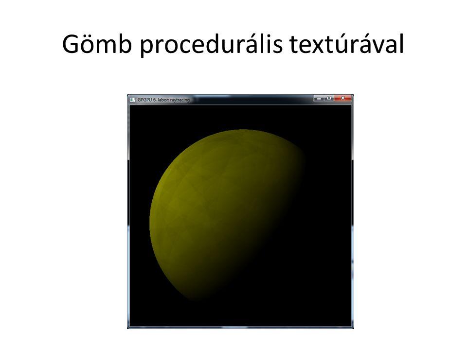 Gömb procedurális textúrával