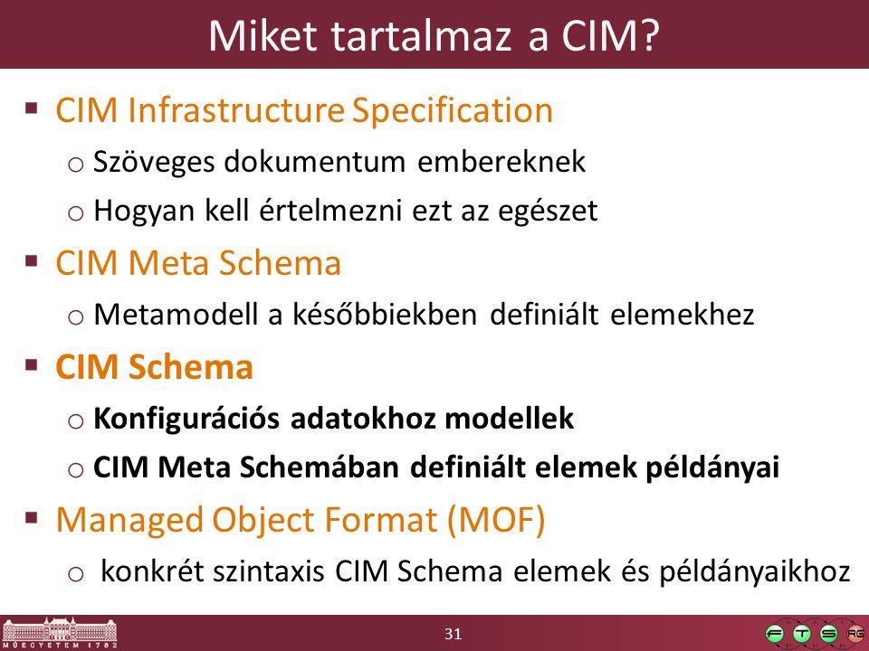 31 Miket tartalmaz a CIM.
