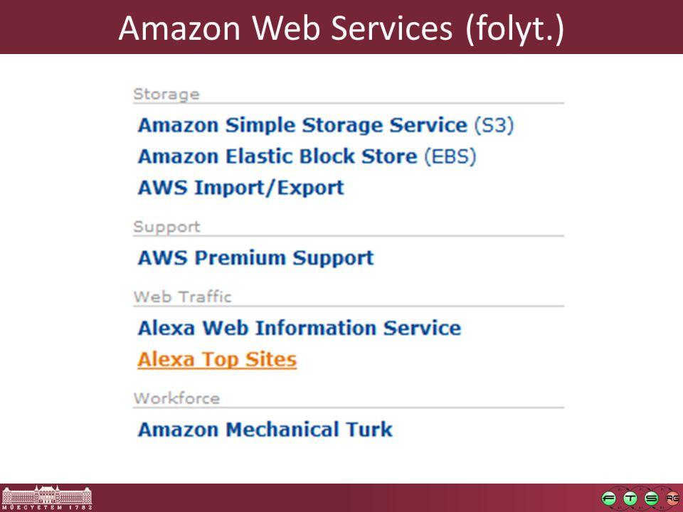 Amazon Web Services (folyt.)