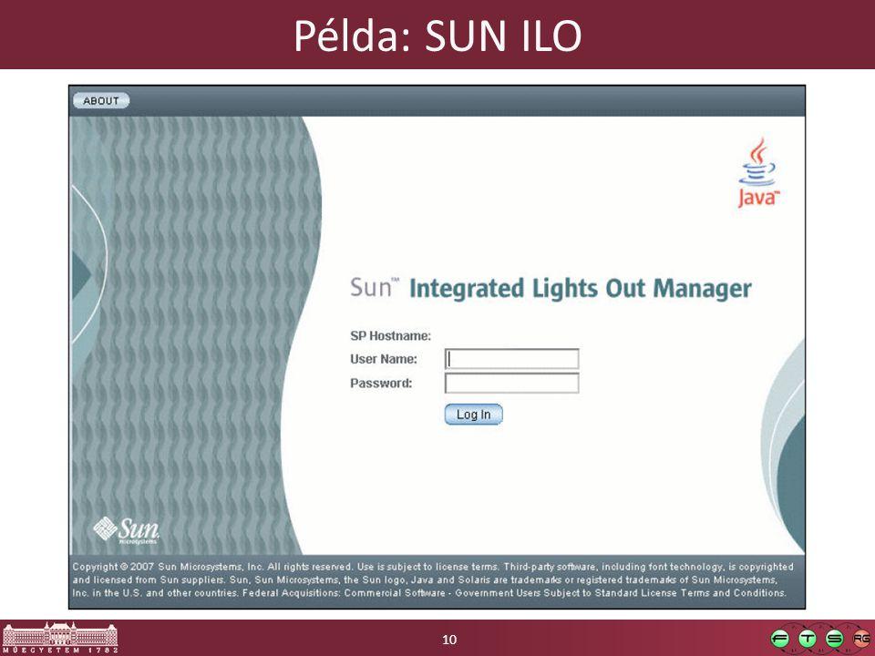 Példa: SUN ILO 10