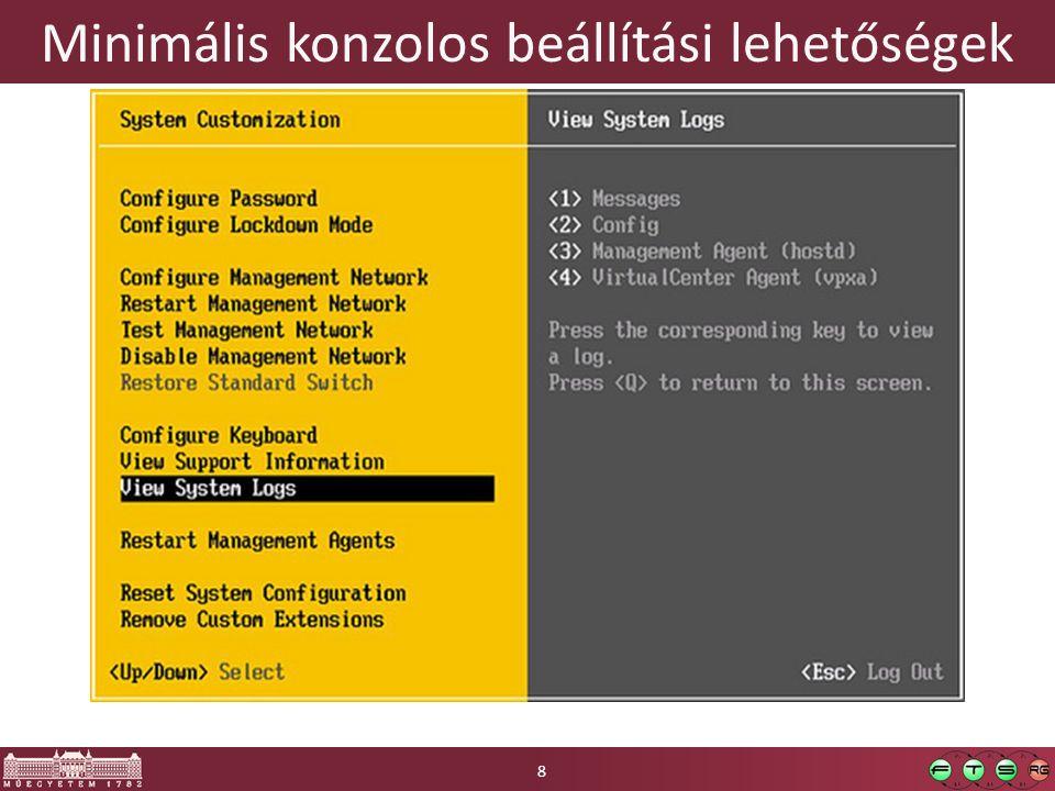 Xen  University of Cambridge kutatási projekt  Jelenleg: o Xen.org: nyílt forráskód, sok disztribúcióban elérhető o Citrix XenServer: plusz funkciók, fizetős (is) o Xen Cloud Platform (XCP): XenServer nyílt változata o Oracle VM, HUAWEI UV…  Követelmény: o Paravirtualizációs kiegészítés része a Linux kernelnek o Windows vendéghez HW-es virtualizáció kell