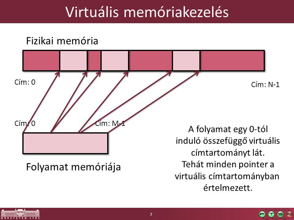 Extra memória virtualizálási lehetőségek 18 Tanulságok: Sokféle extra lehetőség, nem triviális megállapítani az aktuális használatot Figyelni kell a memóriafoglalást, nagyot esik a teljesítmény, ha lemezre kell lapozni Ha van rá lehetőség, ki kell használni a vendégbe telepíthető ballooning drivert, elkerülhető vele a vergődés Tanulságok: Sokféle extra lehetőség, nem triviális megállapítani az aktuális használatot Figyelni kell a memóriafoglalást, nagyot esik a teljesítmény, ha lemezre kell lapozni Ha van rá lehetőség, ki kell használni a vendégbe telepíthető ballooning drivert, elkerülhető vele a vergődés