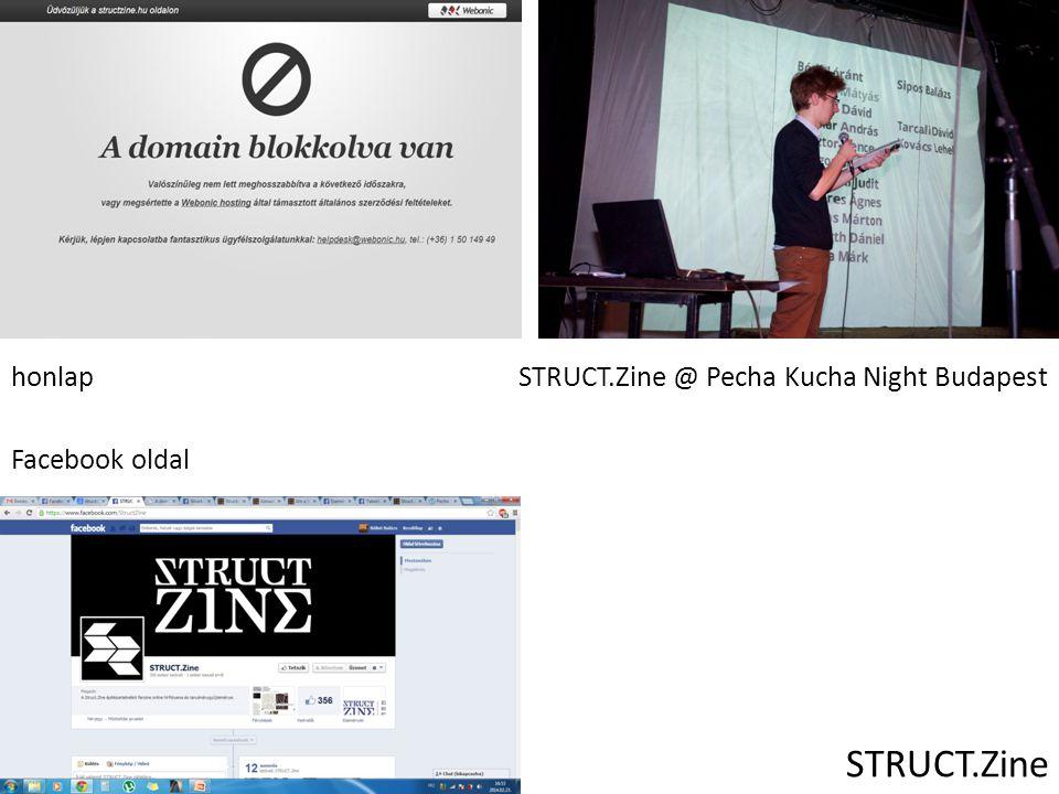 STRUCT.Zine honlapSTRUCT.Zine @ Pecha Kucha Night Budapest Facebook oldal