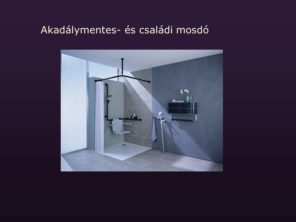 Akadálymentes- és családi mosdó