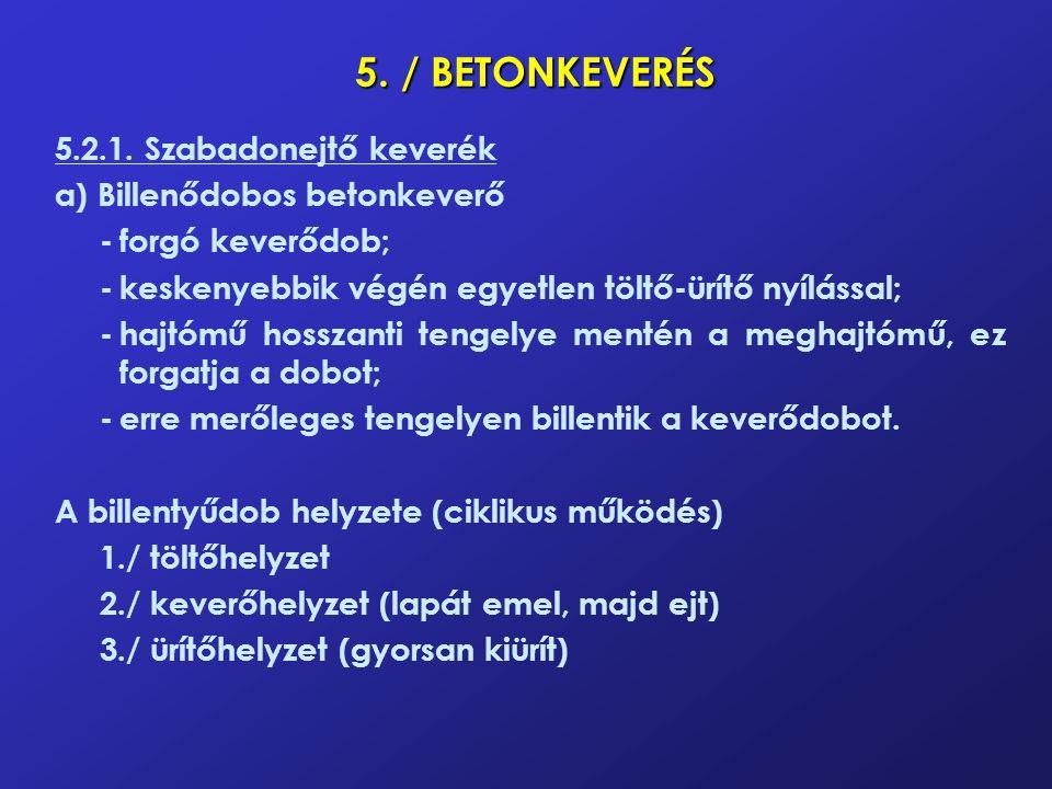 5./ BETONKEVERÉS 5.2.1.