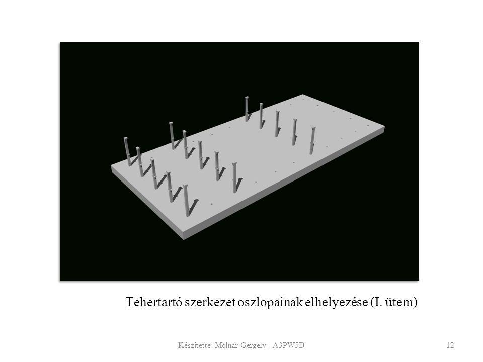 Tehertartó szerkezet oszlopainak elhelyezése (I. ütem) Készítette: Molnár Gergely - A3PW5D12