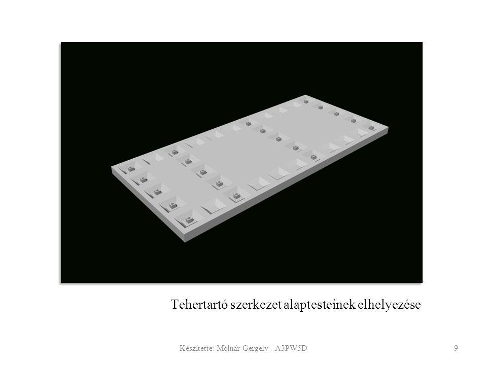 Tehertartó szerkezet alaptesteinek elhelyezése Készítette: Molnár Gergely - A3PW5D9