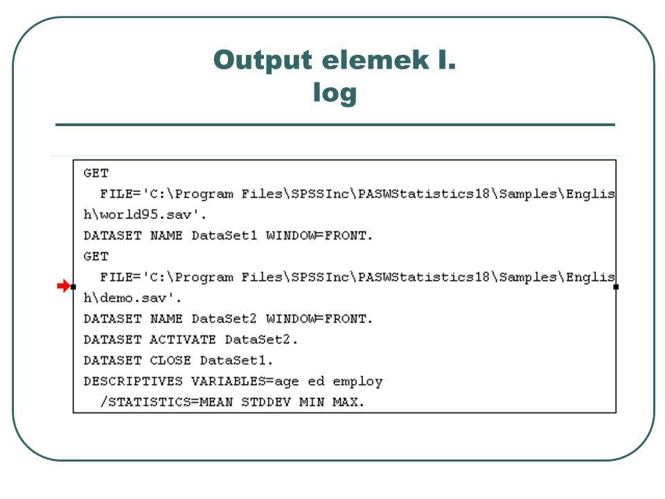 Output elemek I. log