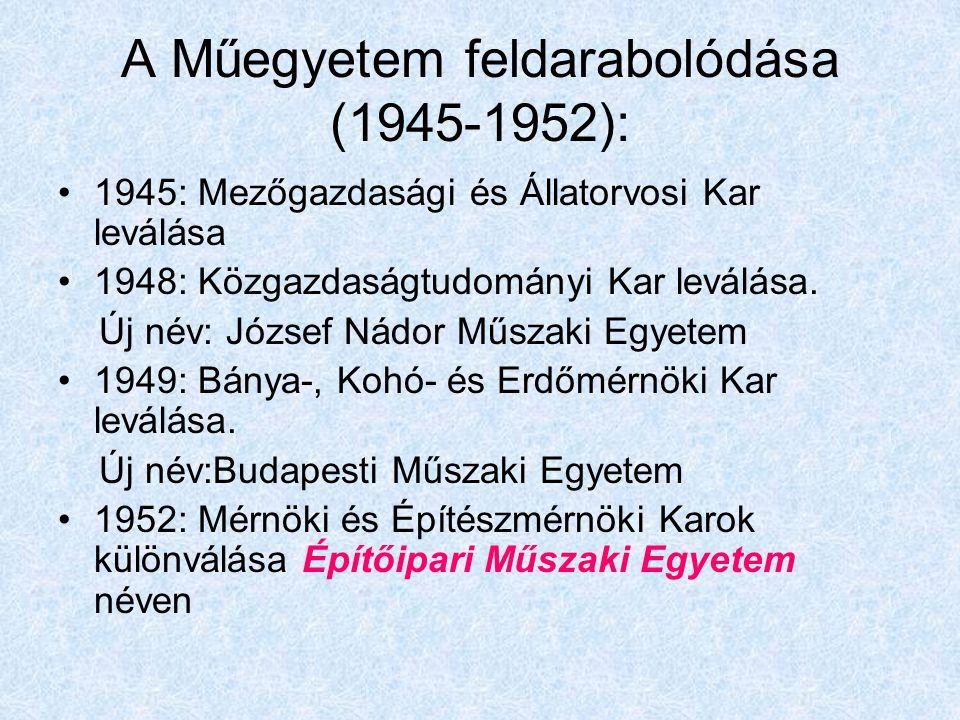 A József Nádor Műszaki és Gazdaságtudományi Egyetem tanácsülésének 1944.