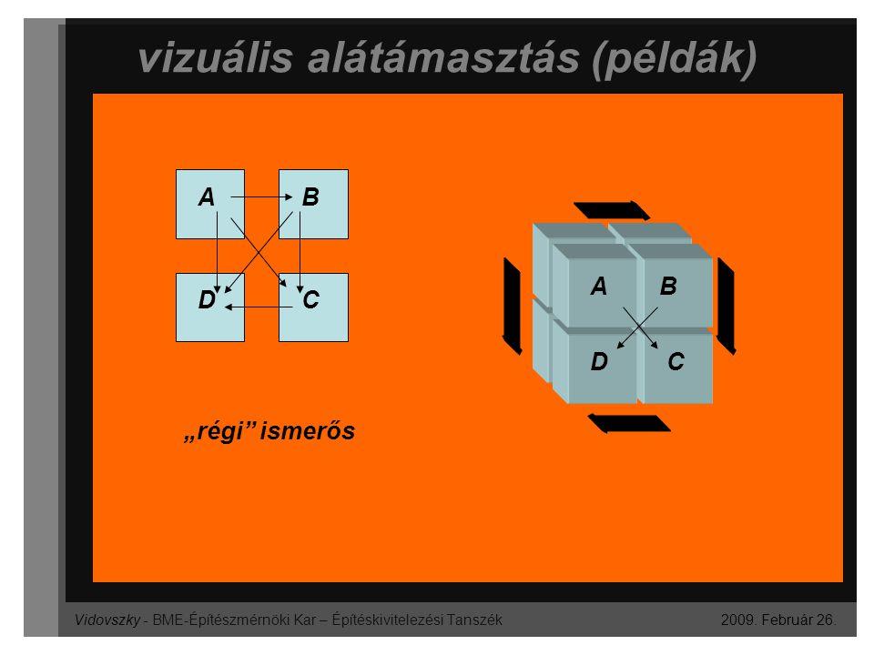 """Vidovszky - BME-Építészmérnöki Kar – Építéskivitelezési Tanszék vizuális alátámasztás (példák) 2009. Február 26. AB CD AB CD """"régi"""" ismerős"""