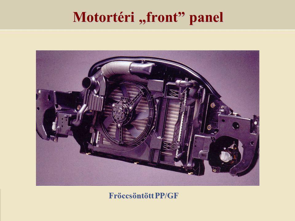 "Motortéri ""front"" panel Fröccsöntött PP/GF"