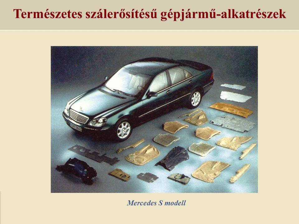 Természetes szálerősítésű gépjármű-alkatrészek Mercedes S modell