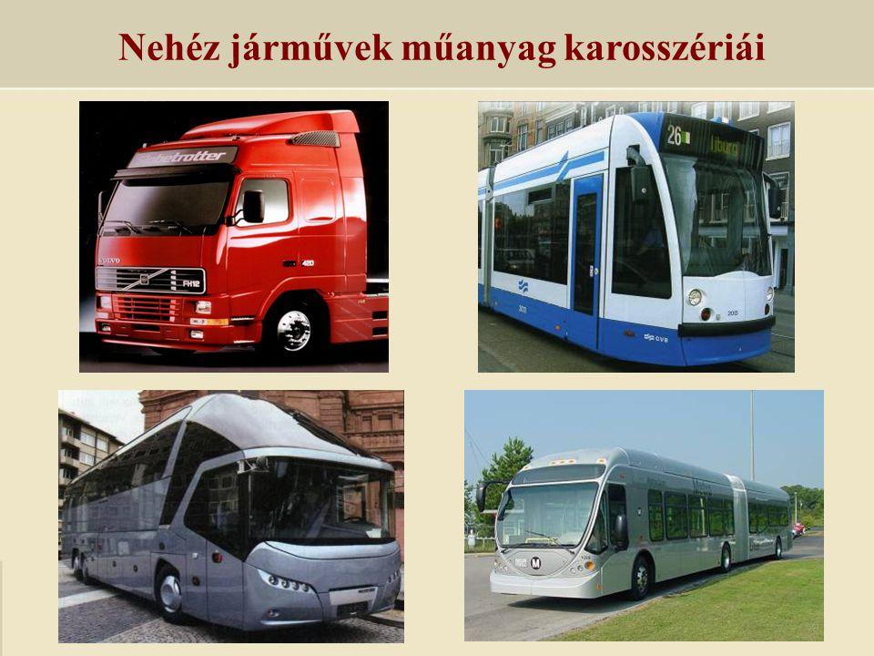Nehéz járművek műanyag karosszériái