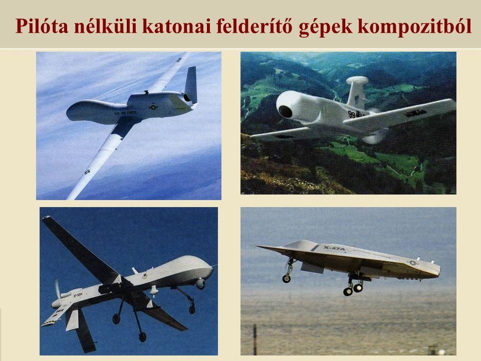 Pilóta nélküli katonai felderítő gépek kompozitból