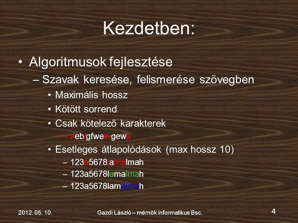 4 2012. 05. 10.Gazdi László – mérnök informatikus Bsc.