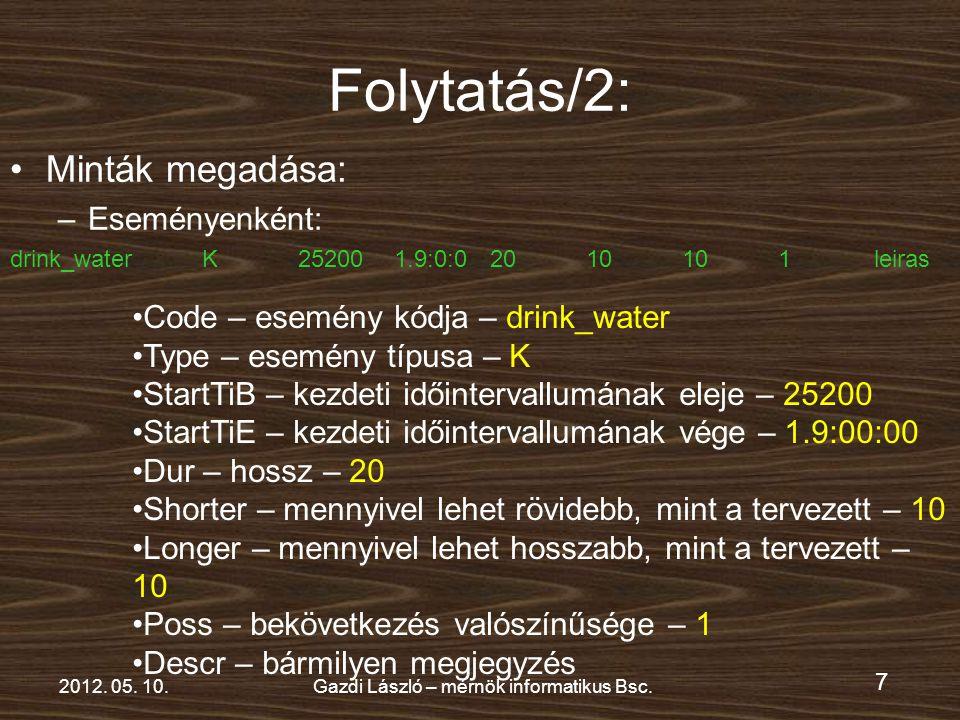 7 2012. 05. 10.Gazdi László – mérnök informatikus Bsc.