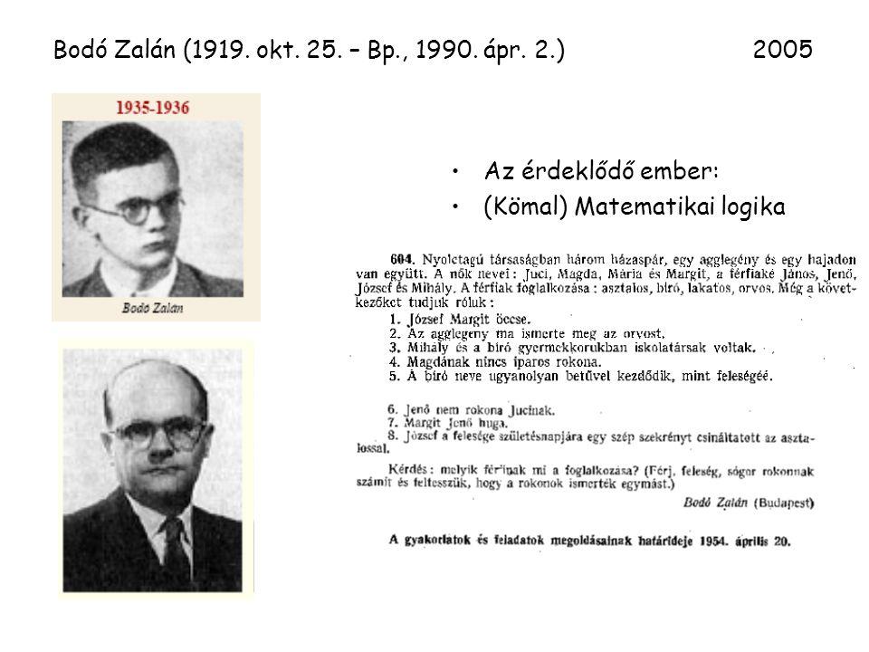 Bodó Zalán (1919. okt. 25. – Bp., 1990. ápr.