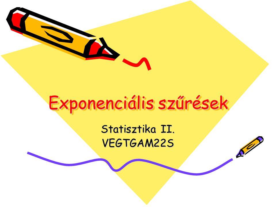 Exponenciális szűrések Statisztika II. VEGTGAM22S