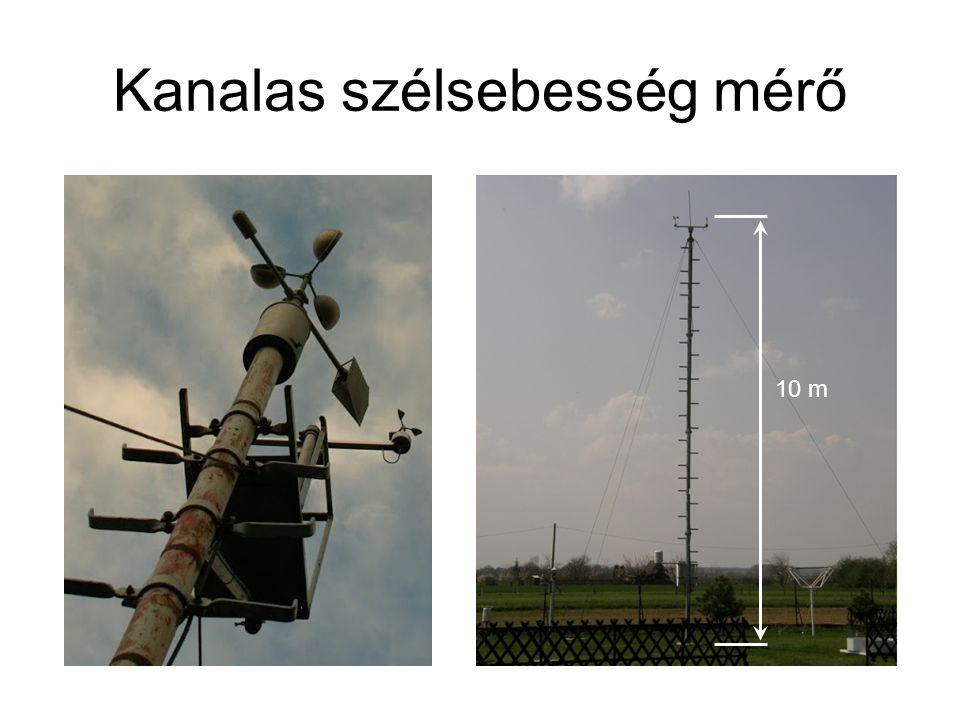 Kanalas szélsebesség mérő 10 m