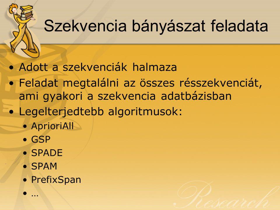 Az SM-Tree használata 8 2 6 0 13 5 4 9 7 1012 11 ABD BF - - A B F -- ABFD-F-ABF-AD-ABD-AFD-BFD-B-A F ABFF AA