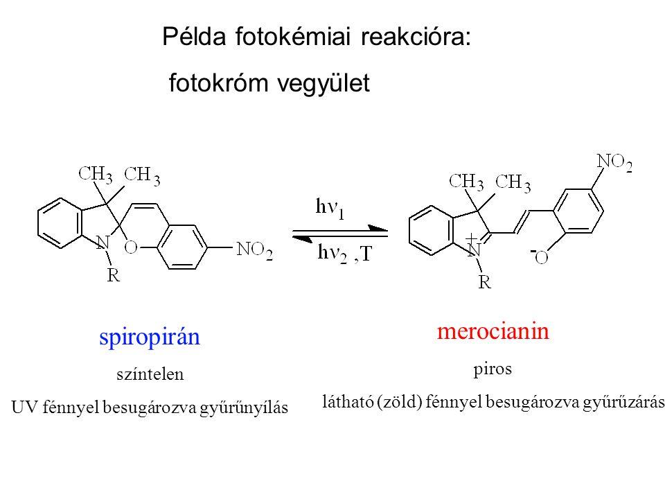 Elektonállapotok II: gerjesztett állapotok Fotofizika (spektroszkópia) Fotokémia Fotobiológia