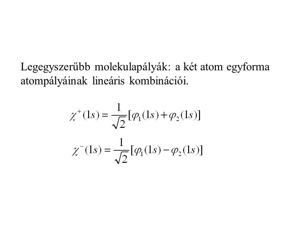 Példa: N 2 homonukleáris molekula