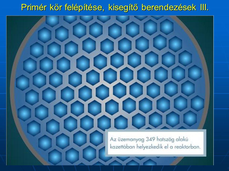 Primér kör felépítése, kisegítő berendezések III.