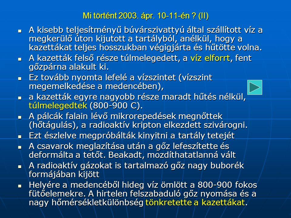 Mi történt 2003. ápr. 10-11-én ? (IV)