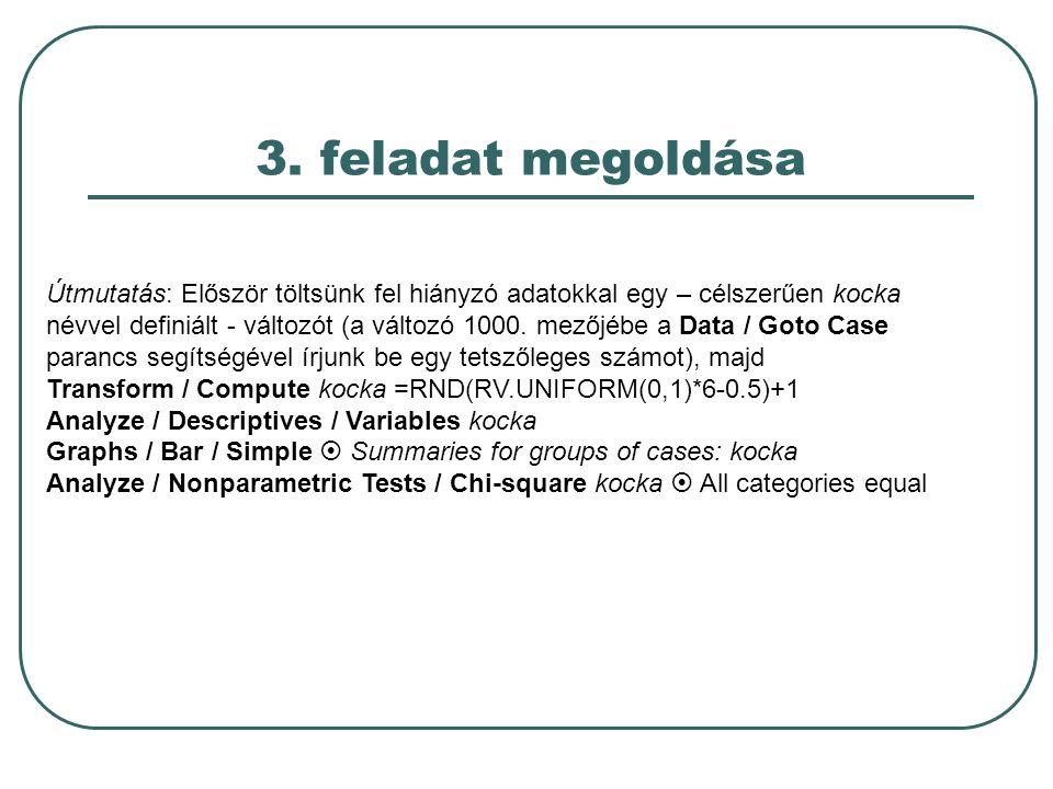4.feladat Hisztogram-készítés a) Olvassuk be az employee data.sav állományt.