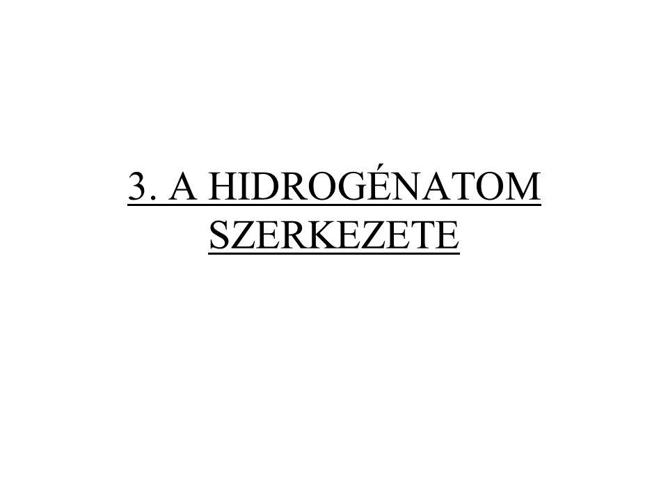 A Schrödinger-egyenlet megoldása Sajátfüggvények Három egész számot tartalmaznak