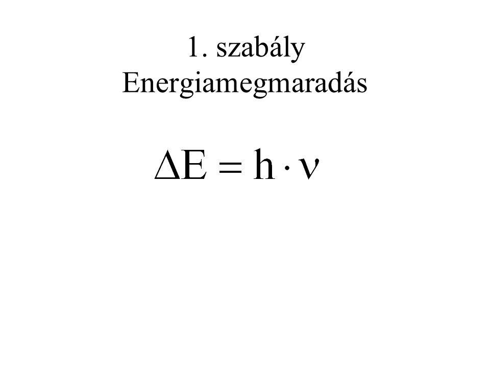 1. szabály Energiamegmaradás