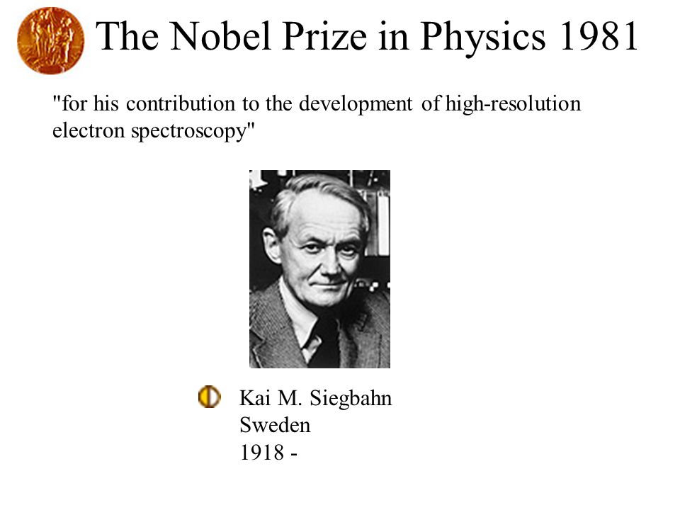 The Nobel Prize in Physics 1981
