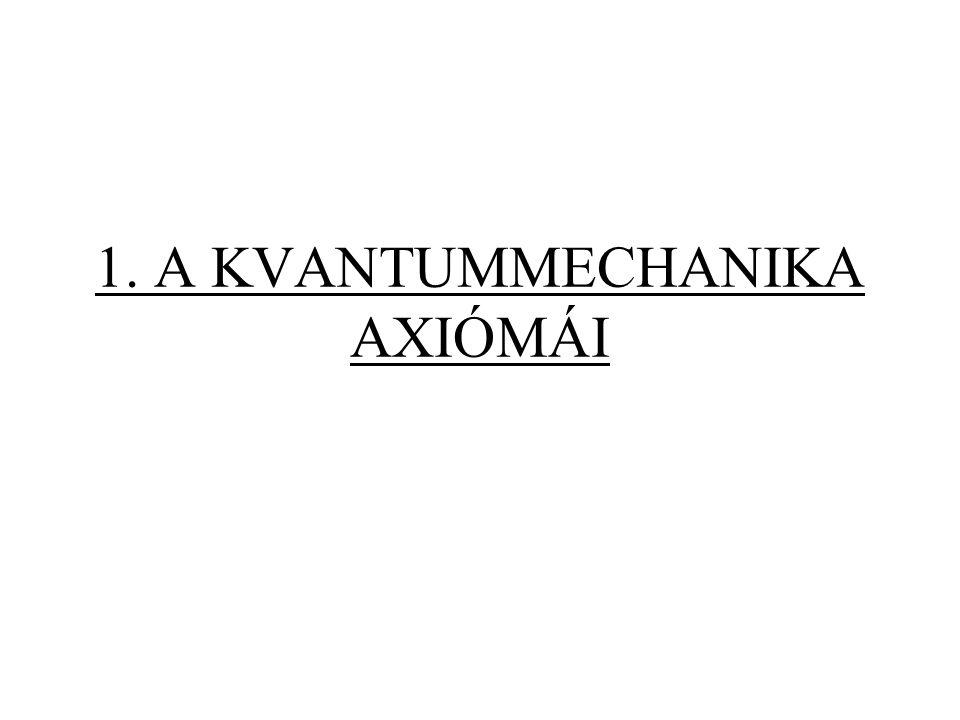 1. A KVANTUMMECHANIKA AXIÓMÁI