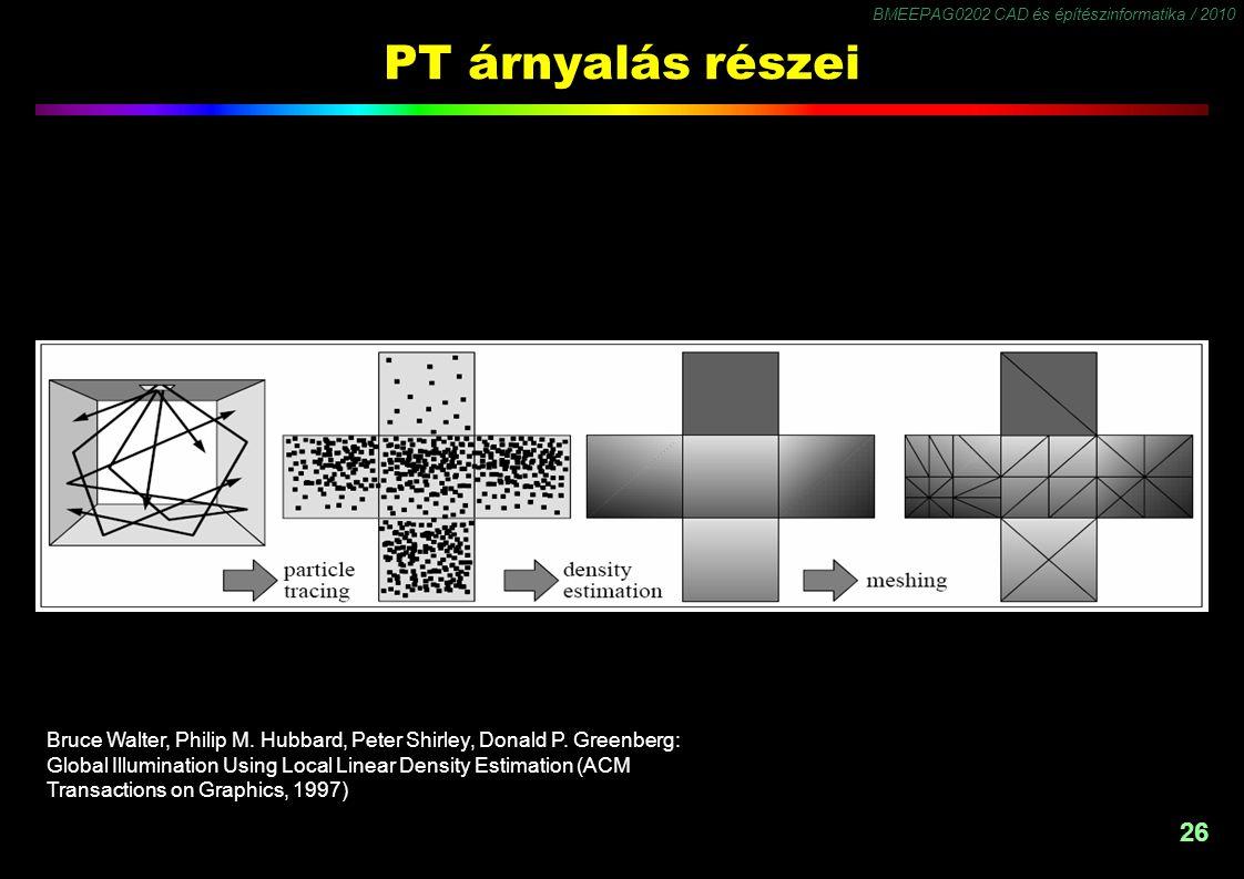 BMEEPAG0202 CAD és építészinformatika / 2010 26 PT árnyalás részei Bruce Walter, Philip M.