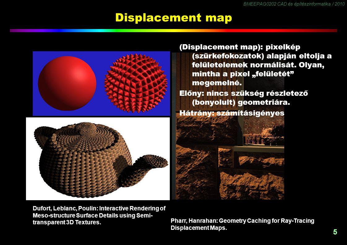 BMEEPAG0202 CAD és építészinformatika / 2010 6 Transparency / Cutout Map