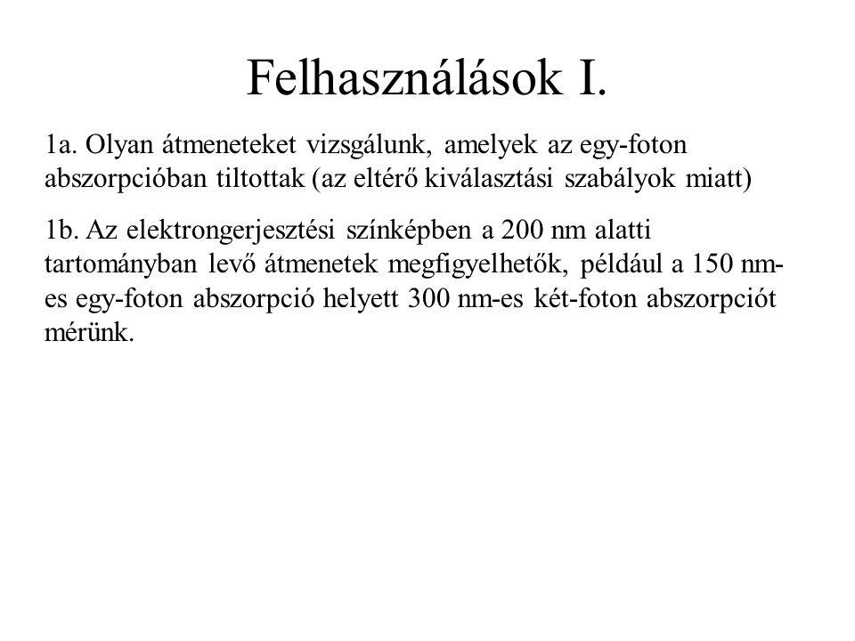 Felhasználások I. 1a.