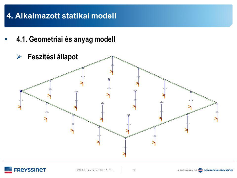 BÖHM Csaba, 2010.11. 16. 4.1. Geometriai és anyag modell  Végleges állapot 23 4.