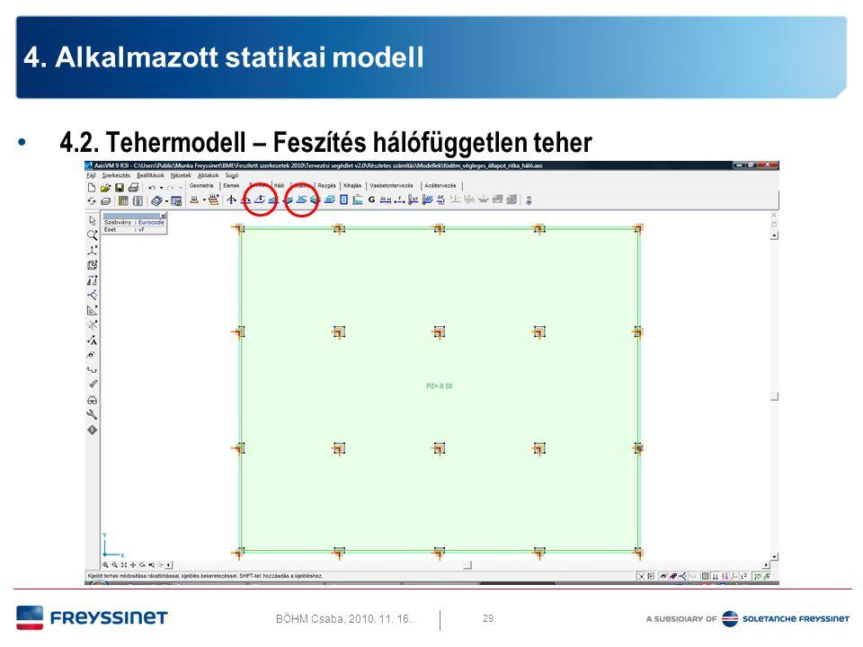 BÖHM Csaba, 2010. 11. 16. 4.2. Tehermodell – Hasznos teher 30 4. Alkalmazott statikai modell